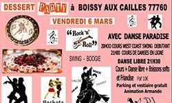 Soirée dansante Dessert Party à Boissy-aux-Cailles 77760