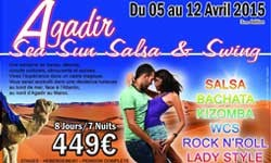 Agadir - Stage de danses, rock, west coast swing, boogie, salsa, kizomba